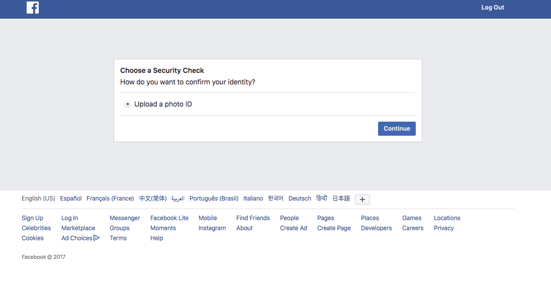 Facebook activated my dormant account and it won't let me